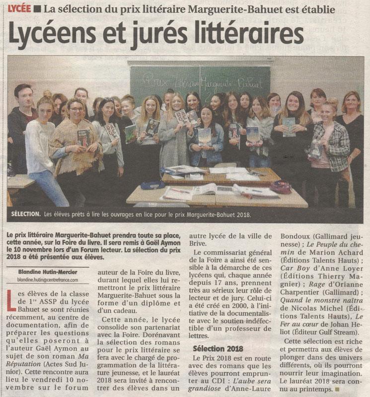 Lycéens_et_jurés_littéraires_-_La_Montagne_-_Jeudi_26_octobre_2017