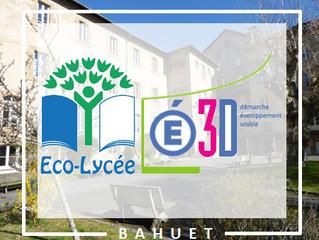 Le Lycée Bahuet vient d'obtenir le label  « Établissement en démarche de développement durable »