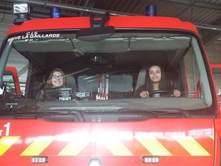 Visite de la caserne des pompiers de Brive-la-Gaillarde