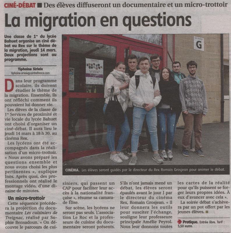 La Montagne - La Migration en questions