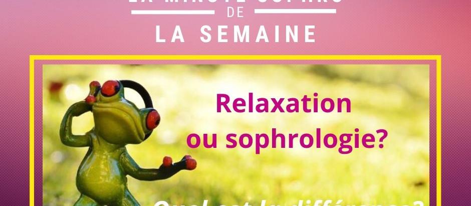 Relaxation et sophrologie, les différences...