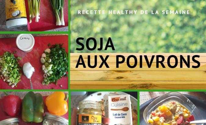 Soja aux poivrons