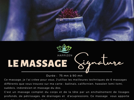 "Le massage ""Signature"" Happizen"