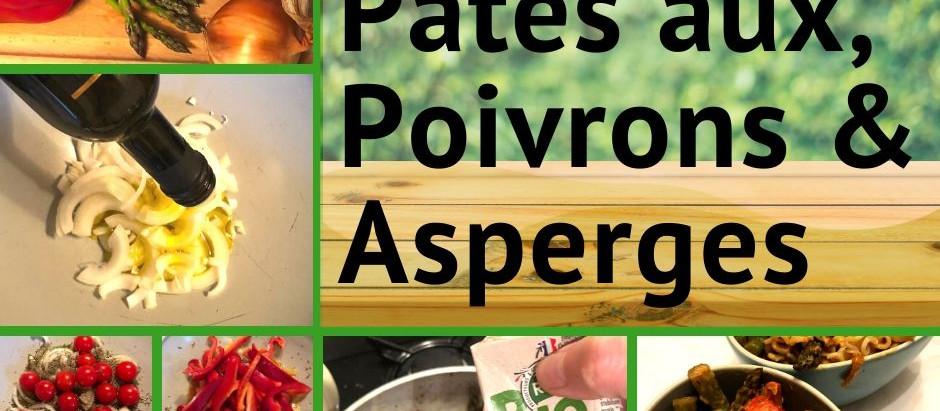 Pâtes aux poivrons & asperges