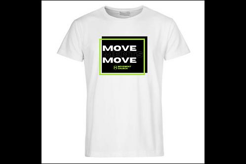 White Movements Move T-shirt