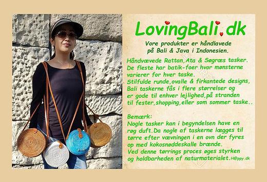 Håndarbejde bæredygtige tasker fra Bali