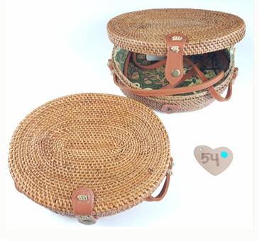 rounded bali bags rattan taske
