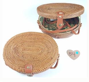 rounded bali bags rattan taske