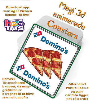 øl brikker 3d pizza augmented