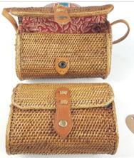 Rattan håndarbejde tasker naturmateriale