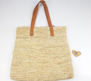 Taske håndlavet flet siv taske perfekt til stranden