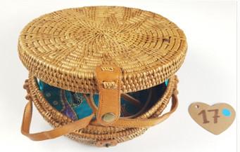 Håndlavet rattan bali taske  cx