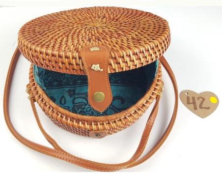 Rattan håndlavede tasker 100 % natur