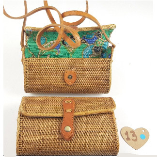 Rattan taske bæredygtig 100 natur