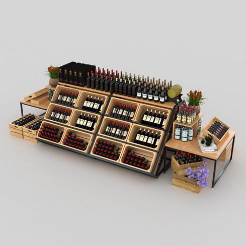 Elegant-Style-Wine-Display-Shelf-For-Sup
