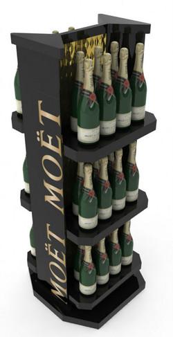 Champagne-whisky-wine-display-wine-bottl