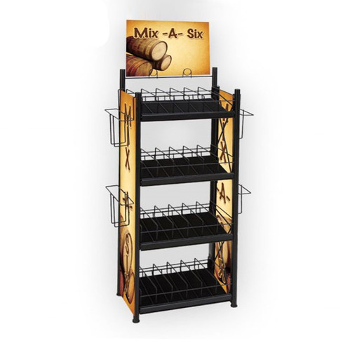 metal-floor-alcohol-display-stand-with-s