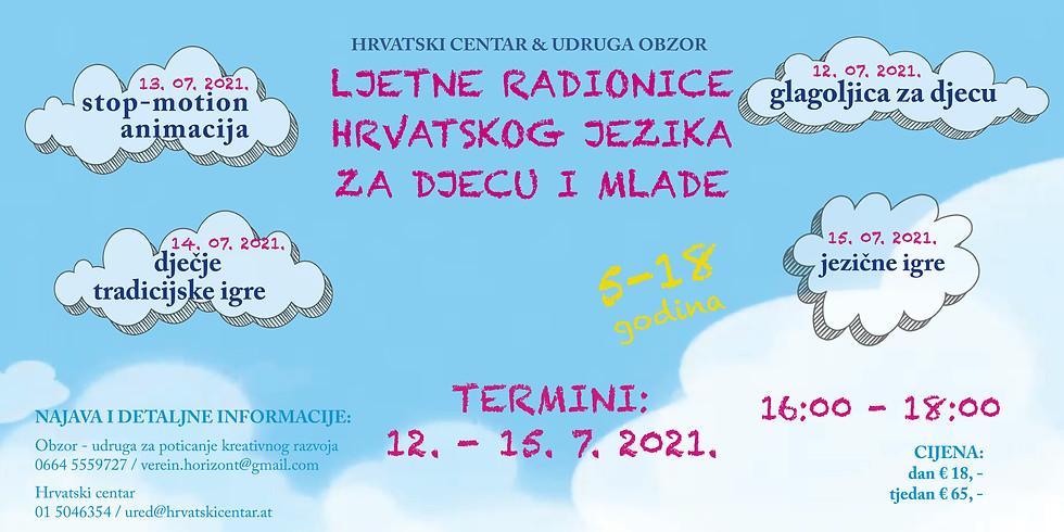 Ljetne radionice hrvatskog jezika za djecu i mlade