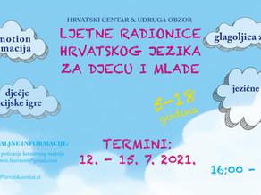 Ljetne radionice hrvatskoga jezika za dicu i mlade u Hrvatskom centru