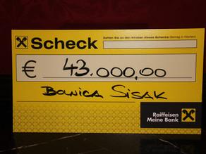 43.000 eurov za bolnicu u Sisku