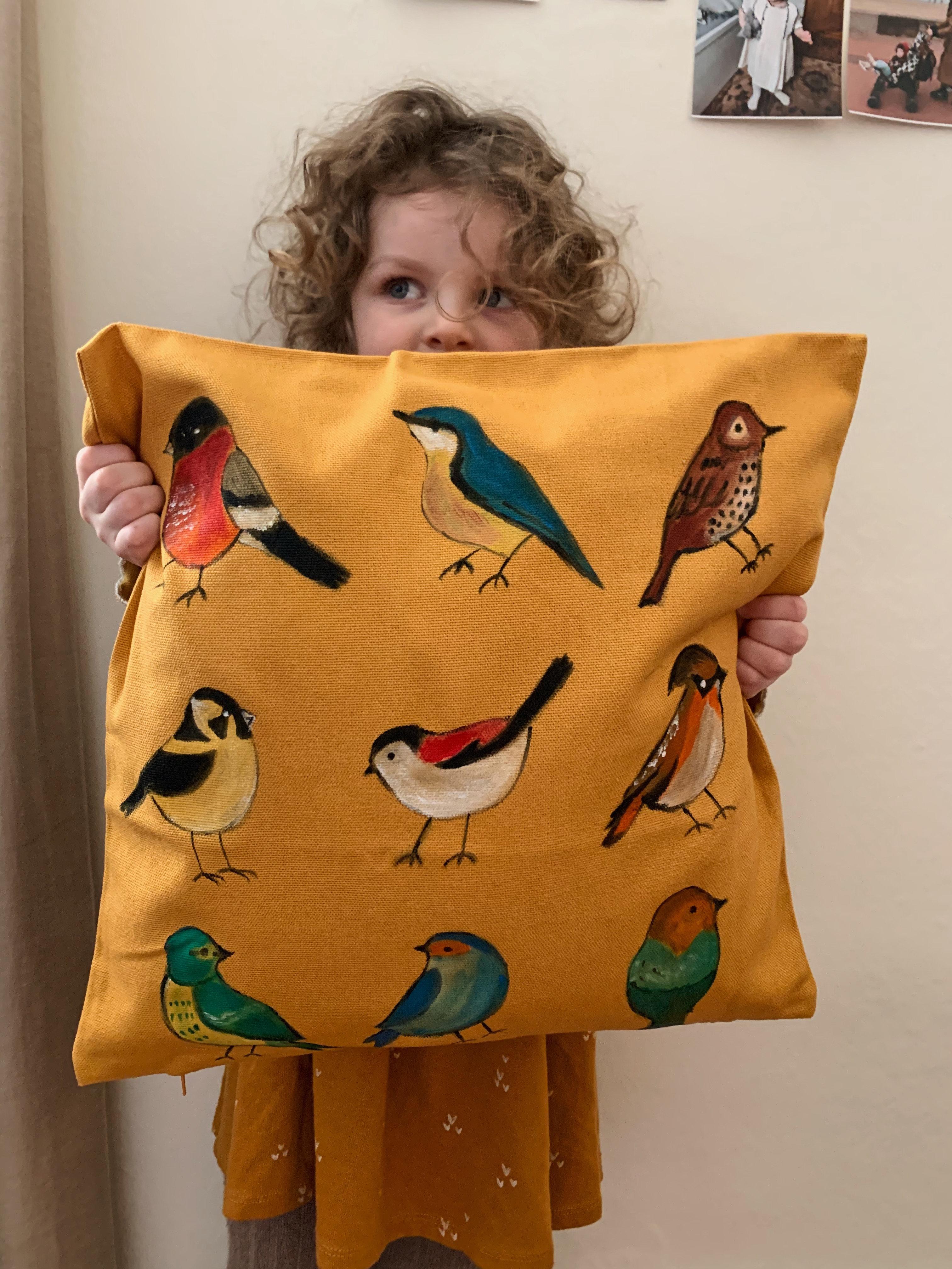 Birds Pillow Case Orangerie