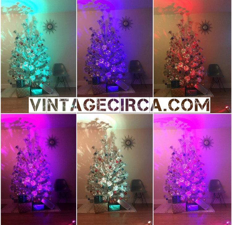 Color Wheel For Christmas Tree.New Treetronics Color Wheel 2 0 For Vintage Aluminum Christmas Tree