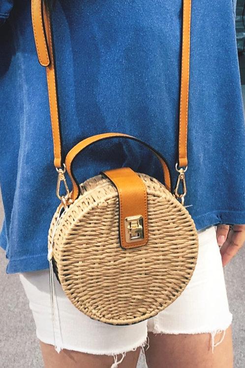 Bettina Straw Shoulder Bag
