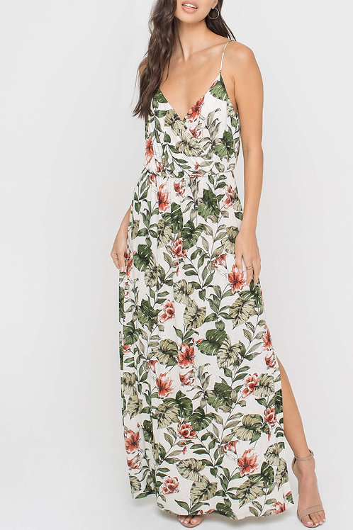 Piper Maxi Dress in Tropical Floral