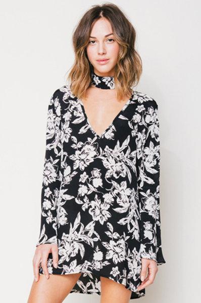 Flynn Skye Memphis Mini Dress in Blackout