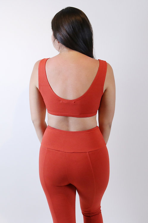 Groceries Apparel High Waisted Seam Legging in Rosella