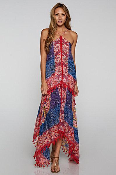 Boho Scarf Dress in Multi