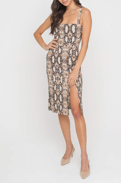 Raquel Midi Dress in Python