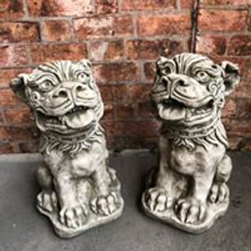 Stone Japanese Dogs