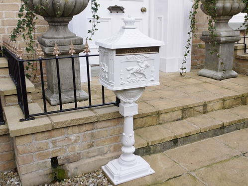 Dutch Imports Aluminium Post Box White