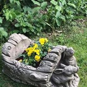 Stone Rabbit Planter