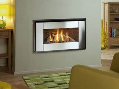 Nu Flame Synergy Ellesse (NG) Steel Trim Gas Fire