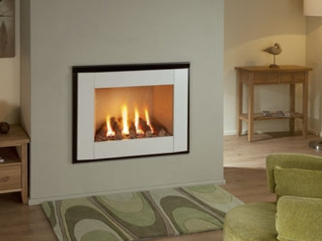 Nu Flame Synergy Perspective (NG) Steel Trim Gas Fire