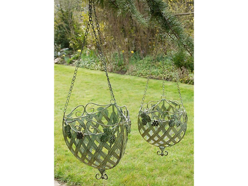 Dutch Imports Set Of 2 CHO Hanging Baskets