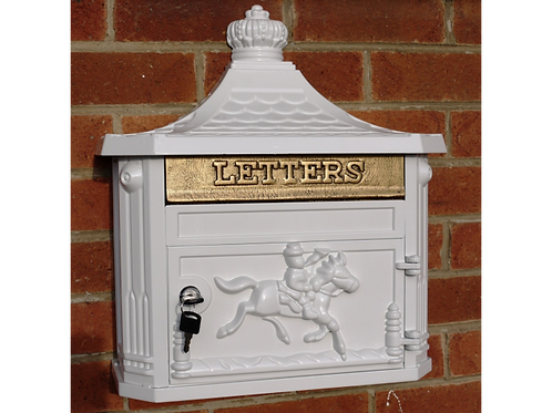 Dutch Imports   Aluminium Wall Post Box White