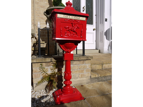Dutch Imports Red PostBox Stood Up