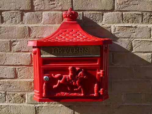 Dutch Imports Aluminium Wall Post Box Red