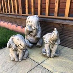 Stone Elephant Set