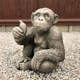 Stone Monkey With Banana