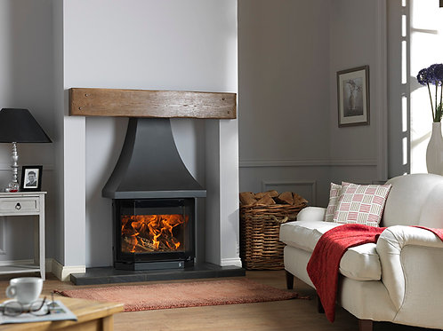 ACR Elmdale Woodburning Cast Iron Inglenook Stove and Canopy