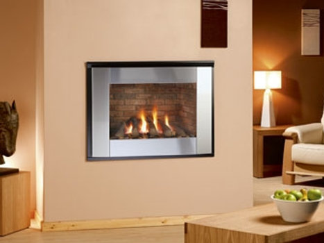 Nu Flame Synergy Perspective Balanced Flue (NG) Steel Trim Gas Fire