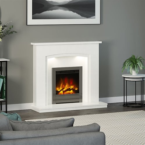 "Elgin & Hall 16"" Beam Edge Inset Electric Fire"