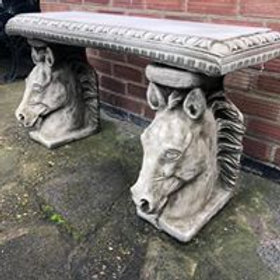 Stone Horse Bench
