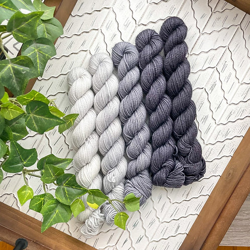 All Grey Everything Mini Skein Sets