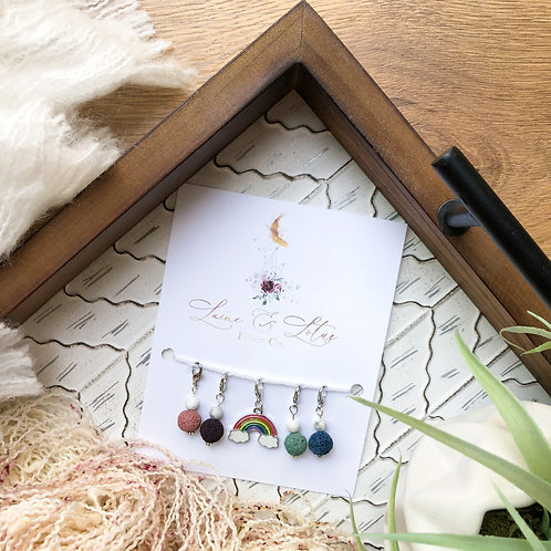 Rainbow Stitch Marker Set