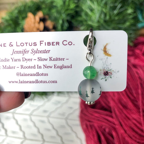 Tree Holiday Stitch Marker/Progress Keeper